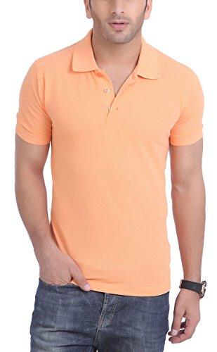 American Crew Men's Polo Collar T-Shirt X-Large Peach