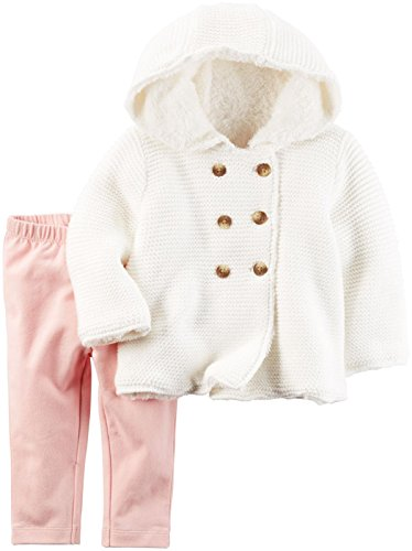 Carter's Baby Girls 2 Pc Sets 127g222, Pink, 3M
