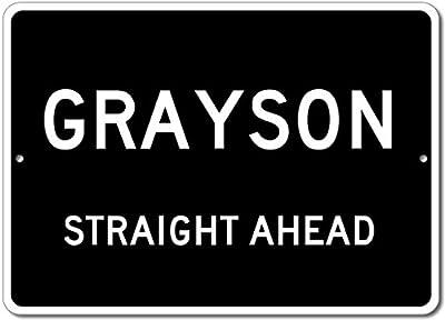 Custom Aluminum Sign - GRAYSON, KENTUCKY US City Straight Ahead Sign