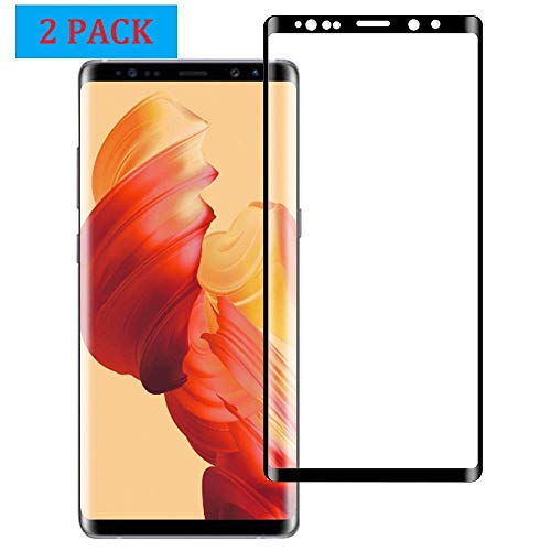 Screen Protector Guard Film - Galaxy Note 9 Screen Protector, [2 Pack] Dopoo Note 9 Tempered Glass Screen Saver 3D Curved Full Coverage HD Clear 9H Hardness Screen Guard Film[Anti-Scratch, Anti-Bubble]