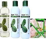 jojoba monoi deep conditioner - Eden BodyWorks Peppermint Tea Tree Set Shampoo 8oz, Conditioner 8oz, Hair Milk 8oz With Nicka K Facial mask