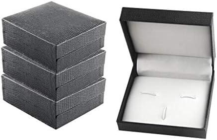 dailymall 4本のプラスチック7x8x3cmジュエリーストレージディスプレイカフリンクタイクリップセットボックス
