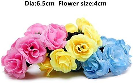 X Xia Zhi Td Fashion Luxury Floral Flower Bun Head Knot