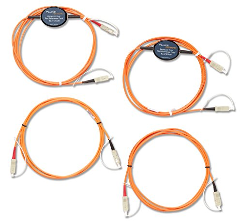 Fluke Networks MRC-625EFC-SCSCKIT Encircled Flux Compliant Test Reference Cord Kit for Testing 62.5 µm SC Terminated Fibers ()