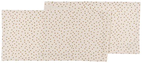 Now Designs 13 by 72 inch Tablerunner, Gala Gold Polka Dot Print (Ideas Banquette)
