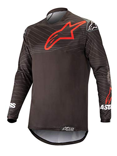 Jersey Red Insert - Venture R Off-Road Motocross Jersey (Large, Black Red)
