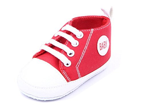 Sweet Baby Sneakers,Dealzip Inc Baby Sneakers Red Newborn Baby Boy Girl Soft Crib Canvas Sneaker Shoes 9-12 Months