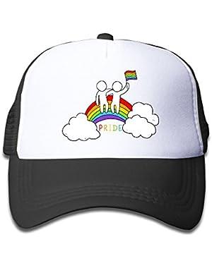 Gay Rainbow Flag Rainbow Baby Baseball Cap Infant Trucker Hat