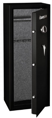 SentrySafe G1455E Electronic Lock Safe, Black Powder Coat, 14-Gun Capacity
