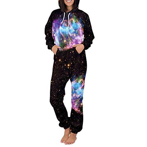 Plus Cappuccio l Elegante Sleepwear Pigiama Adulti Di Caldo Per Casual Zip 3d Size Abbigliamento Home One Tuta Con Autunno Stampa qgwPqZHR