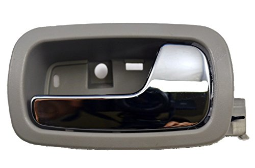 PT Auto Warehouse GM-2007MG-FR - Inside Interior Inner Door Handle, Gray Housing with Chrome Lever - Passenger Side Front