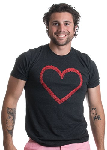 Bike Chain Heart | Cycling Love, Bicycle Cyclist Humor Unisex Triblend T-shirt