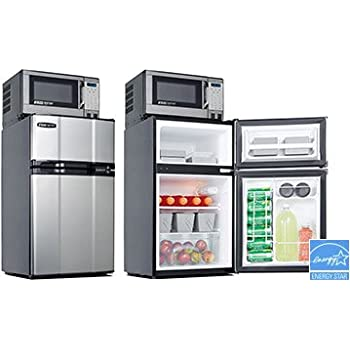 MicroFridge All Refrigerator U0026 Microwave Combo Appliance44; Stainless Steel    3.1 Cu ... Part 94