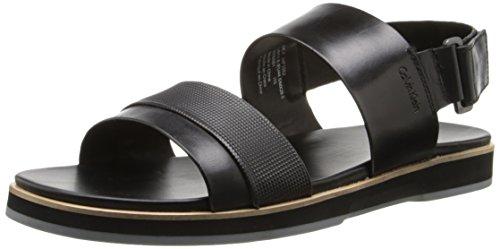 Calvin Klein Men's Dex Stud Emboss Leather Dress Sandal, ...