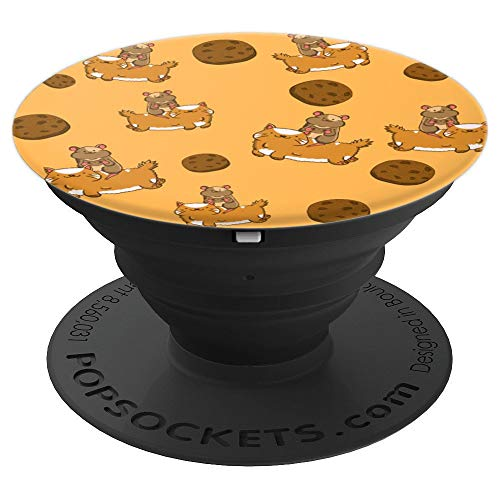 - Cat Hamster Cookie Funny Pastry Hammy Owner Pet Lover Gift - PopSockets Grip and Stand for Phones and Tablets