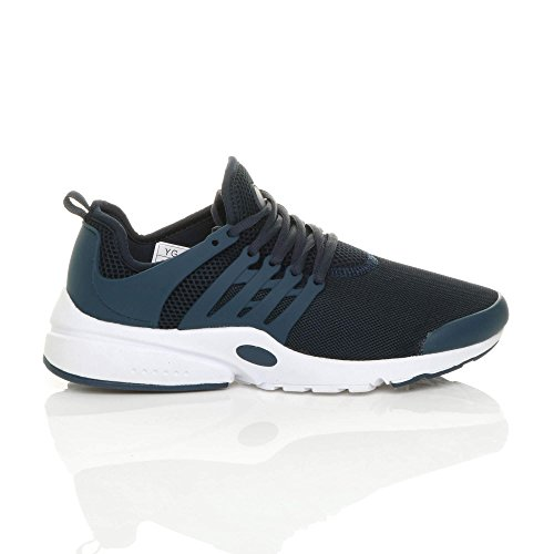 Flexibles Up Taille Ajvani Running Mens Fitness Lace Sports Gym Marine Casual Baskets wn78q7vE