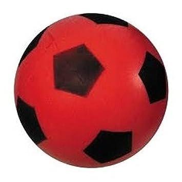 Bola de espuma   Bola blanda   Fútbol Aprox. 20 cm Balón en rojo   Amazon.es  Electrónica 764dadc444ab