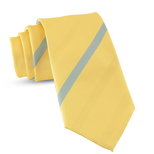 Handmade Striped Ties For Men Skinny Woven Slim Thin Yellow Gold Mens Stripes Tie: Thin Necktie, Stylish Neckties For Every Outfit