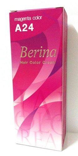 amazon com berina permanent hair dye color cream no a24 magenta