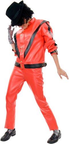 Charades Men's Michael Jackson Thriller Jacket, Red/Black, Small (Michael Jackson In Red Jacket)