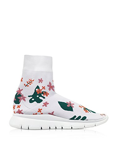 10492WHITEFLOWER35 Bianco Poliammide JOSHUA SANDERS Slip Donna Sneakers On xnP47vX