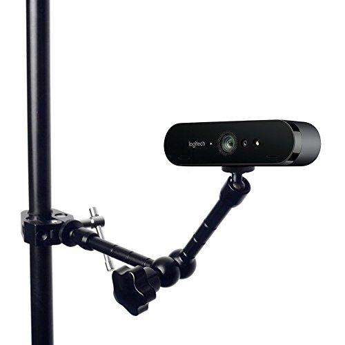 11 Inch Articulating Magic Arm + Clamp Clip Mount Holder Stand Logitech Brio 4K, C925e,C922x Webcam