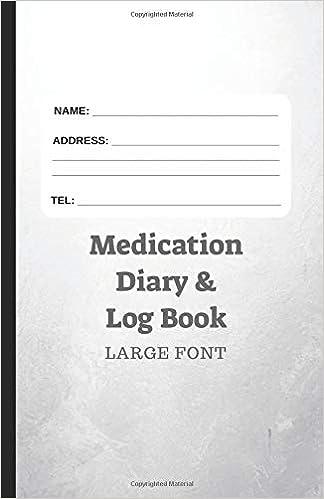 medication diary log book large font 366 days of medication log