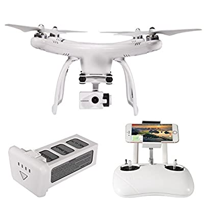 UPair One Plus Drone 4K Camera 5.8G Mobile App Version Transmit Live Video, 2.4G Remote Controller, GPS Return to Home Function, Follow me Mode by GTEN Innovation