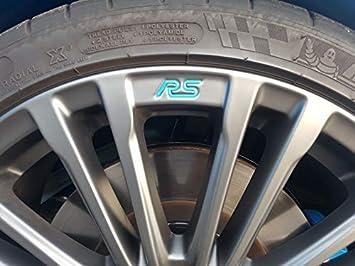 Jackplott Focus Rs MK3 3D Gel-Embleme Inlays Rims Logos Blue