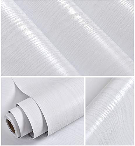 White Wood Contact Paper 15.7