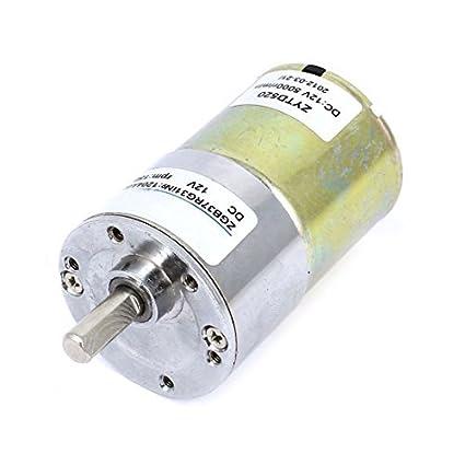 eDealMax DC12V 5000 RPM 150 RPM de Salida rotativo Reductor de velocidad caja de engranajes del