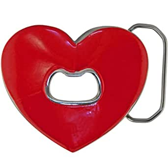 red heart bottle opener belt buckle clothing. Black Bedroom Furniture Sets. Home Design Ideas