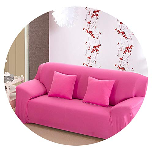 - No Buy No Bye Solid Color Tight All-Inclusive Sofa Towel Slipcover Stretch Fabric Elastic Sofa Covers Single/Two/Three/Four-Seater Home Decor,Rose red,1 Seater 90-140cm