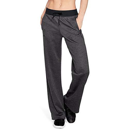 Under Armour Women's Synthetic Fleece Open Pant, Charcoal (019)/Tonal, Large