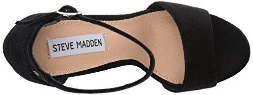 Steve Madden Gonzo-v, Zapatos de Tacón con Punta Abierta para Mujer Negro (Black Velvet)