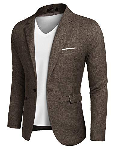 COOFANDY Mens Slim Fit Premium Stylish Suit Coat Jacket Modern Business Blazers