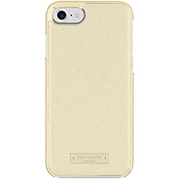 kate spade new york Protective Wrap Case for iPhone 7 - Saffiano Gold with Logo Plate