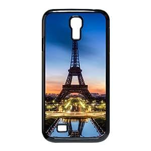Samsung Galaxy S4 Case Eiffel Tower Sunset, Samsung Galaxy S4 Case Eiffel Tower For Guys, [Black]