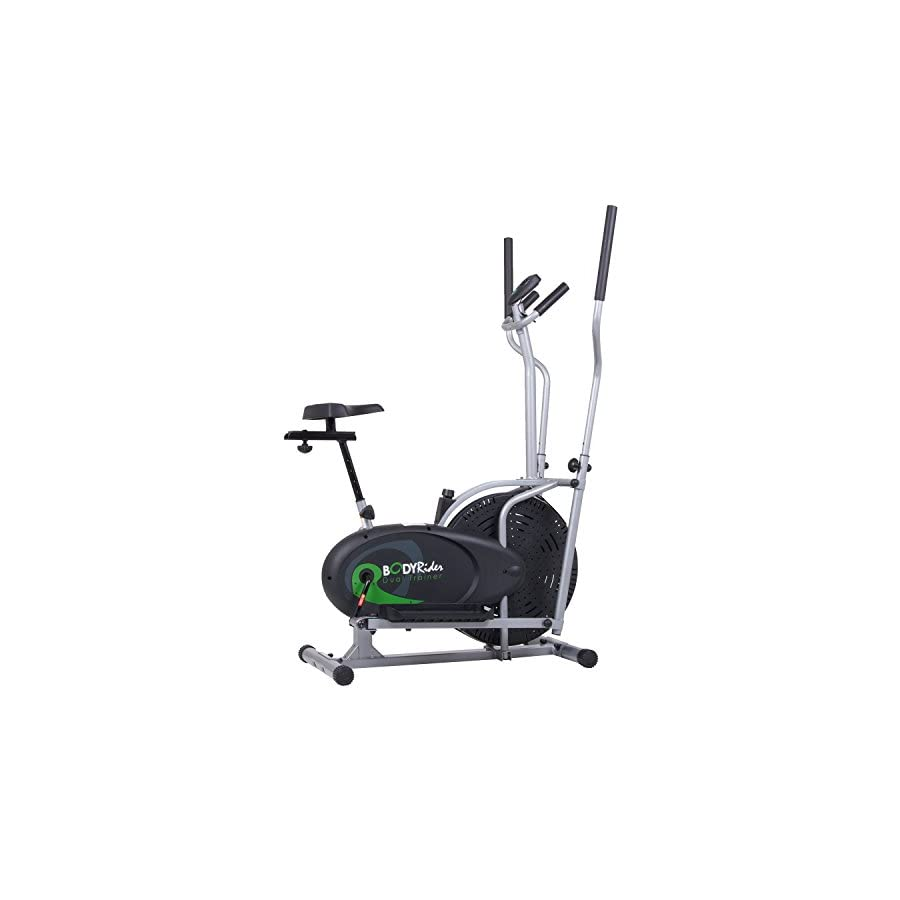 Body Rider Elliptical Trainer And Exercise Bike With Seat And Easy Computer  / Dual Trainer 2