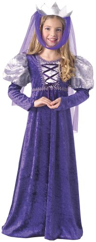 Rubie's Costume Renaissance Queen Child Costume Purple Large (12-14) (Renaissance Halloween Costume)