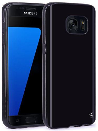 LK Case for S7,Ultra [Slim Thin] Scratch Resistant TPU Gel Rubber Soft Skin Silicone Protective Case Cover for Samsung Galaxy S7 (Black)