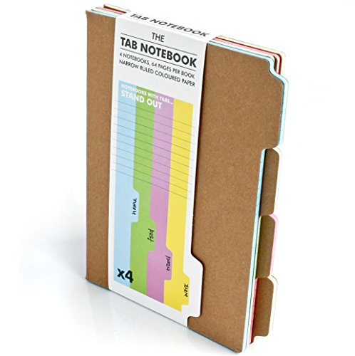 !B.E.S.T Suck UK A5 Tab Notebook Set - 4 Ruled Paper Pads with Coloured Pages Included [K.I.N.D.L.E]