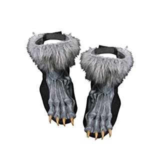 Silver Werewolf Shoe Covers Costume Standard