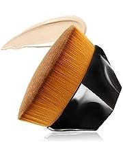 AUSELECT Foundation Makeup Brush Flat Top Kabuki Hexagon Face Blush Liquid Powder Foundation Brush for Blending Liquid, Cream or Flawless Powder Cosmetics with Bonus Protective Case(BLACK/PINK/BLACK&PINK) …
