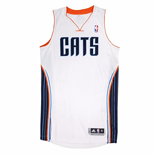 adidas Charlotte Bobcats NBA White NBA Authentic On-Court Team Issued Pro Cut Jersey Jersey for Men ()