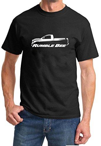 - Dodge Rumble Bee Ram Pickup Truck Classic Outline Design Tshirt 2XL black