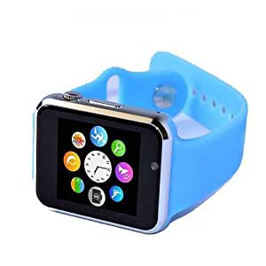 Indor Smart Watch Rubber Band For Android & iOS,Blue - i8
