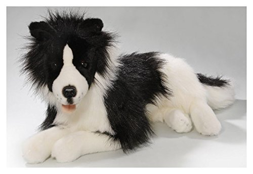- Border Collie Lying, 16.5 inches, 42cm, Plush Toy, Soft Toy, Stuffed Animal 2694