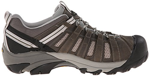Keen Utility Mens Flint Low ESD M Steel Toe Work Boot, Gargoyle/Forest Night, 11.5 2E US