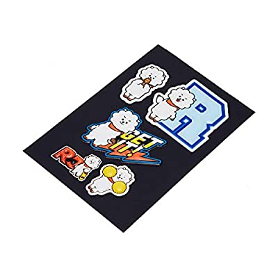 BT21 Official Merchandise by Line Friends - RJ Character 5 Piece Decal Stickers: Computers & Accessories
